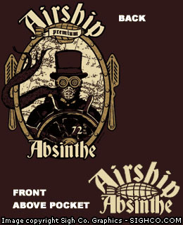 Airship Absinthe steampunk work shirt