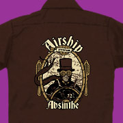A stylish work shirt for goggle-wearing Airship captains (or pirates!).