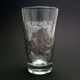Your inner beast will love this beautifully etched beer glass.