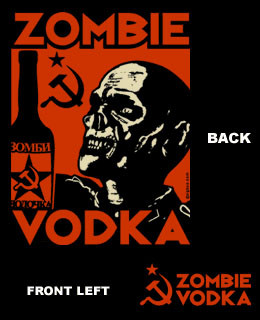 Zombie Vodka Zip up hoody