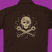 A Steampunk Jolly Roger for airship pirates.
