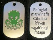 Cthulhu Fhtagn Dog Tag