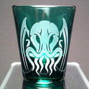 Tribal Cthulhu green shot glass
