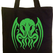 Tribal Cthulhu tote bag
