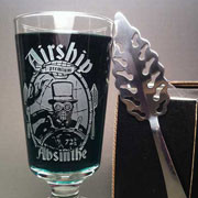 Airship Absinthe glass set