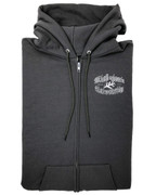 Miskatonic Shield zip up hoody (GRAY)