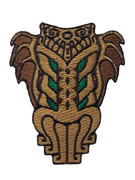 Tiki Cthulhu embroidered patch