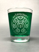 H. P. Lovecraft Film Festival Logo Rocks Glass