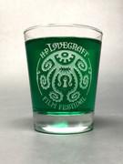 H. P. Lovecraft Film Festival Logo Rocks Glass