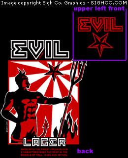 Evil Lager work shirt