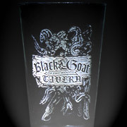An etched glass from the most blasphemous bar in Dunwich