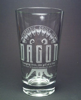 Esoteric Order of Dagon etched beer glass