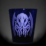Tribal Cthulhu cobalt blue shot glass