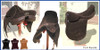American Style Polo Saddle All suede. Dark brown. Three buffalo billets. Safety stirrups bars.