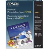 "Epson Premium Presentation Paper Matte- 11 x 14"", 50 Sheets"