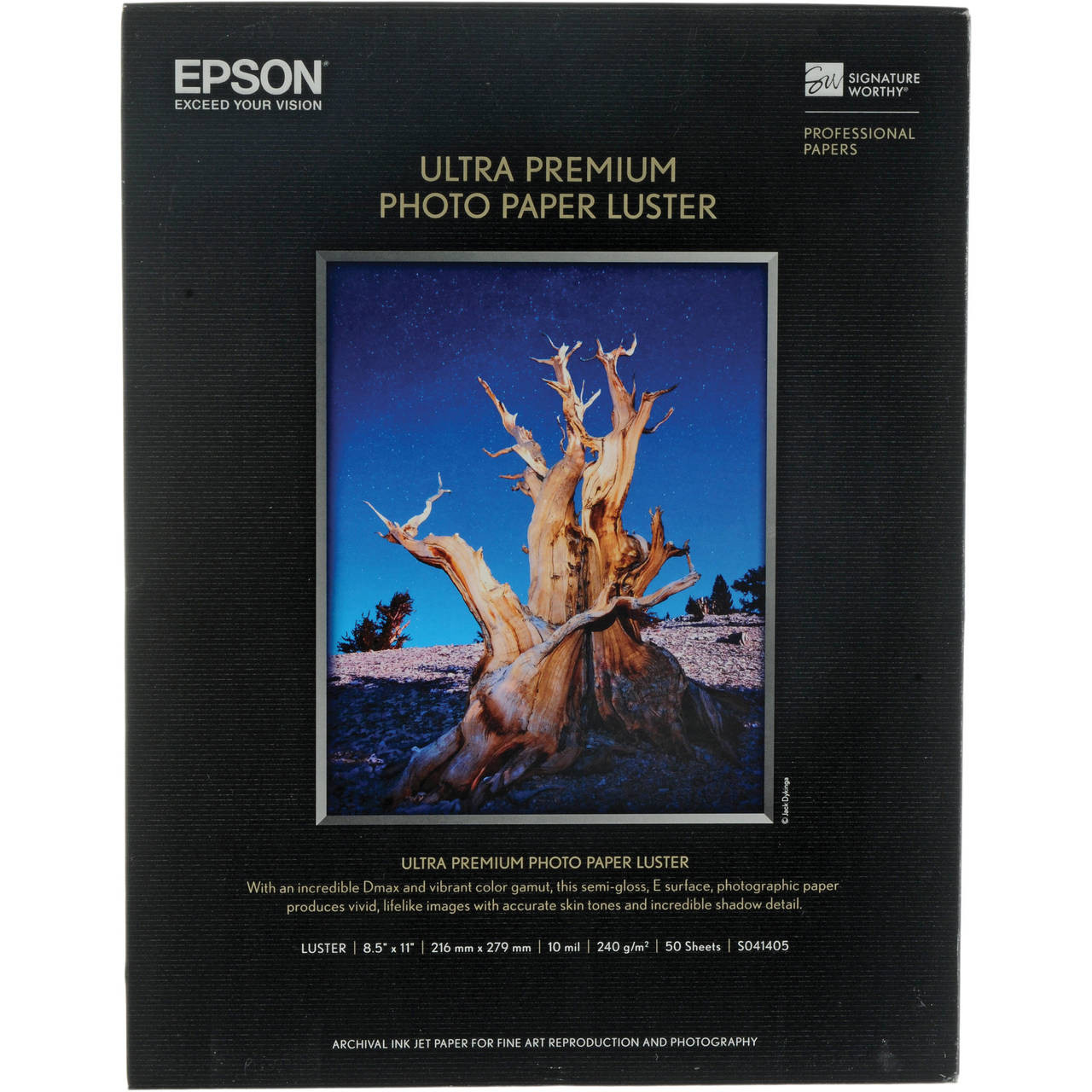 Epson Ultra Premium Photo Paper Luster 85 X 11 50 Sheets