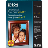 "Epson Ultra Premium Photo Paper Glossy- 8.5""x11"" (50 Sheets)"
