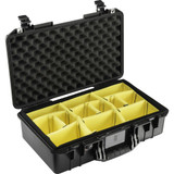 Pelican 1525AirWD Carry-On Case With Dividers- Black
