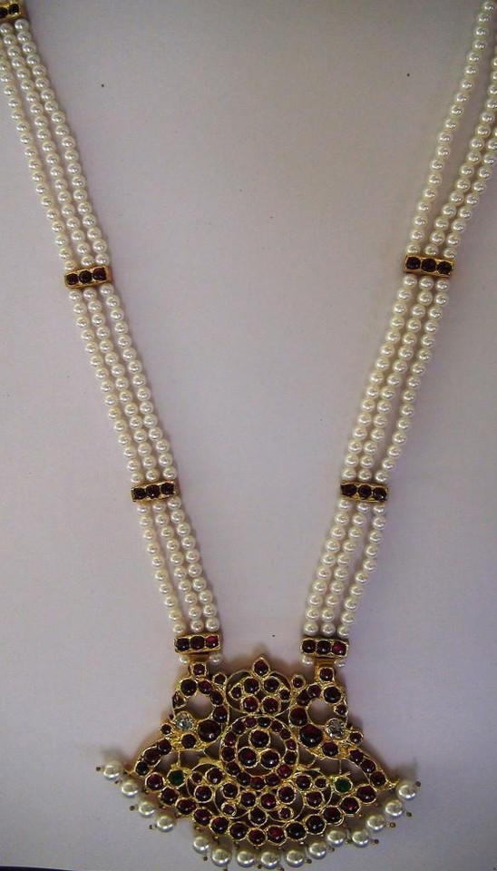 Long Chain Real Temple Jewellery RTJ86