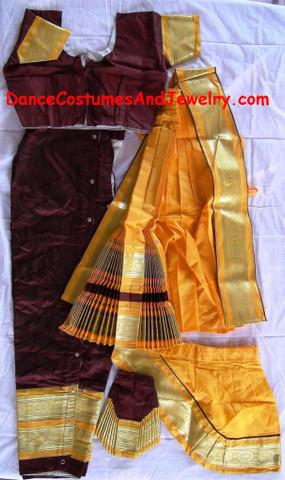 Bharatanatyam dance dress