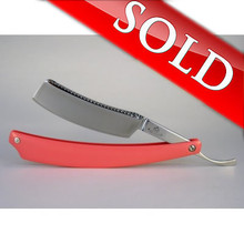 Alex Jacques Custom Pink G10 Scaled Straight Razor