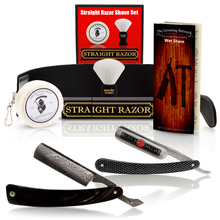 $100 Off Buffalo Horn Damascus Straight Razor and Luxury Shave Set