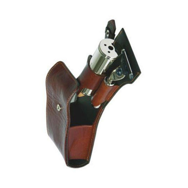 Edwin Jagger Travel case, Mach 3 razor, tweezers, nail clippers, genuine leather, brown (EJ-RT4M3)