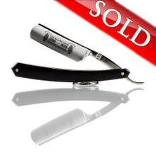 "Thiers Issard - The Blades Grim 6/8"" Straight Razor - Black Acrylic Scales"