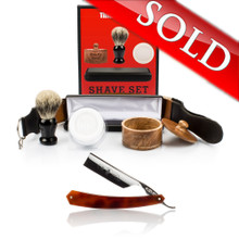 "Thiers Issard 7/8"" Straight Razor and Luxury Set Combo"