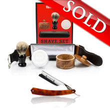 "Thiers Issard 7/8"" Barbers Knotch Straight Razor and Luxury Set Combo"