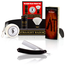 Straight American 6/8 Square Tip With Luxury Shave Set