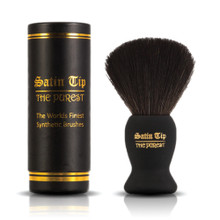 Satin Tip - The Purest - Luxury Synthetic Shaving Brush Black