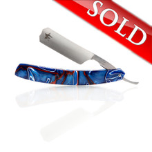 "J2Customs 7/8"" ""Patriot"" Custom Straight Razor"