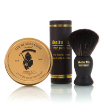Smolder Soap and Black Satin Tip Shave Brush Combo