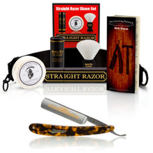 "Faux Tortoise 5/8"" Razor with Luxury Shave Set"