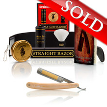 "Ivory Micarta 5/8"" Razor with Luxury Shave Set"