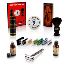 Safety Razor Sampler Set with Smolder Accessories