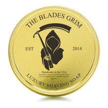 "The Blades Grim Luxury Shaving Soap 2oz with Tin ""Smolder"" Scent"
