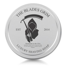 "The Blades Grim Luxury Shaving Soap 2oz with Tin ""Citrus Cooler"" Scent"