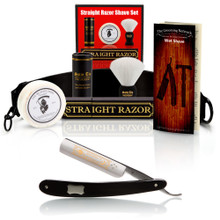 "DOVO ""Astrale"" Ebony 5/8"" Straight Razor with Luxury Shave Set"