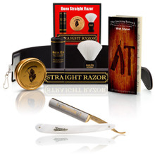 "Dovo ""Pearl"" 5/8"" Straight Razor with Luxury Shave Set"