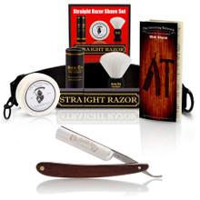 Dovo 5/8 Straight Razor - Cocobolo Wood Scales - Luxury Set