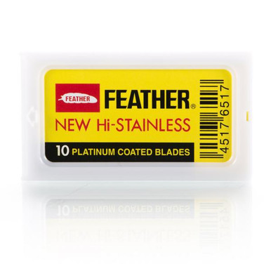 Feather Hi Stainless Platinum Double-Edge Blades 10 pack
