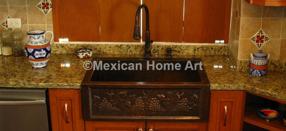 antique kitchen sinks mexican home 1283