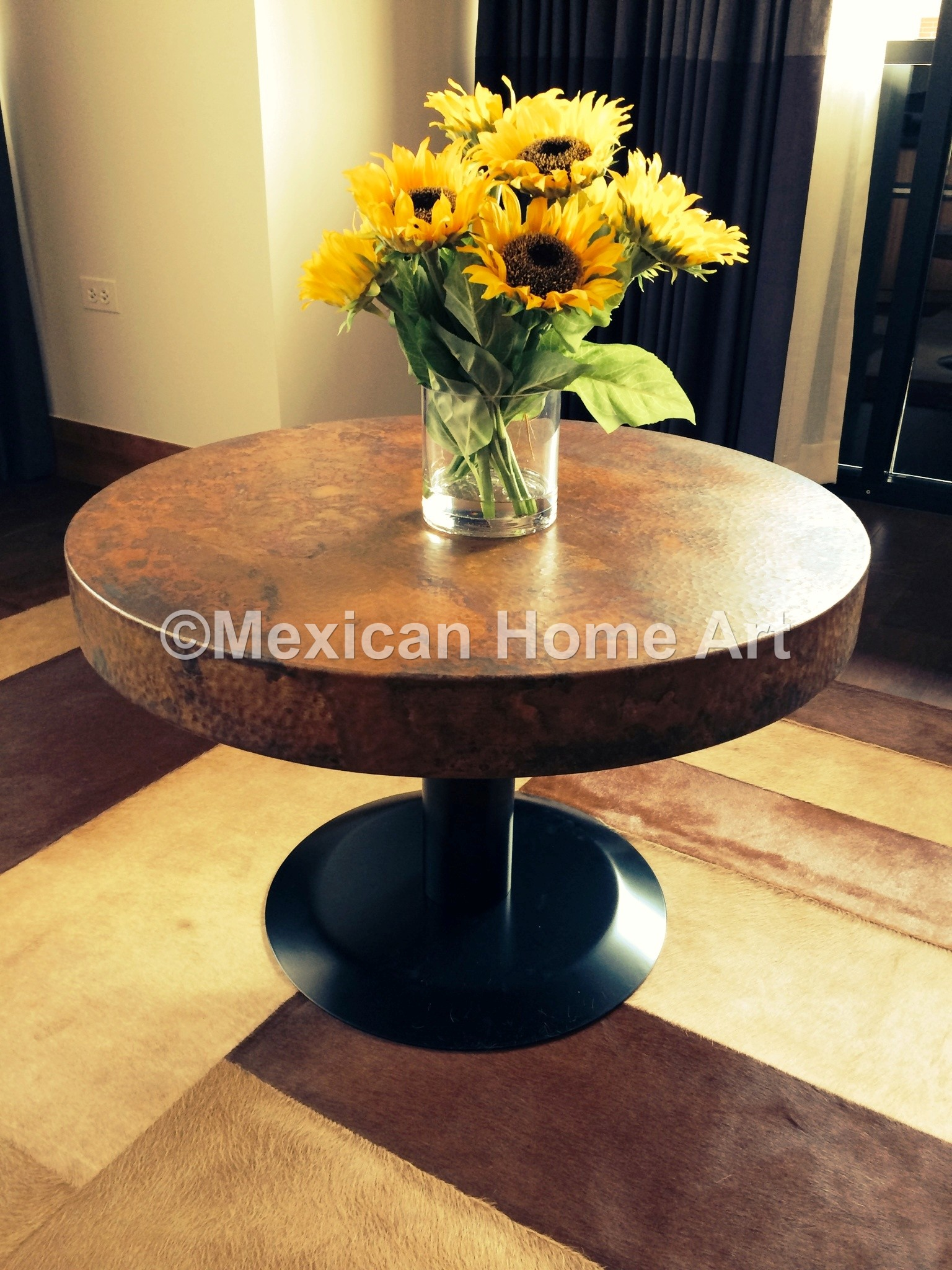 an-elegant-custom-copper-29-inch-table-top-with-disk-base-being-used-as-an-entry-table-in-this-customer-s-house..jpg