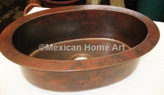 Copper Bar/Prep Sink Oval 26.5x17.75x7 in Somber Patina