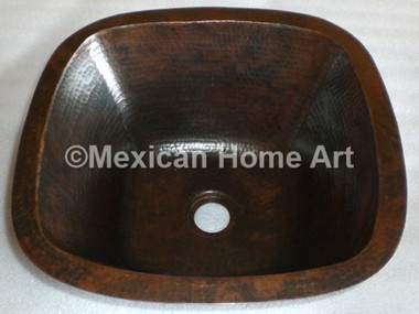 Copper Bar/Prep Sink Square 12X12X5 in Somber Patina