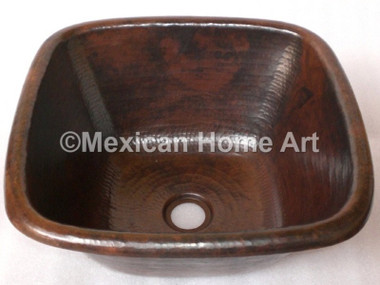 Copper Bar/Prep Sink Square 18X18X8 in Somber Patina