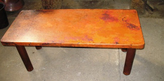 Copper Coffee Table 40x21 with RK Base