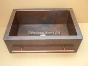 Copper Sink Farmhouse with Towel Bar